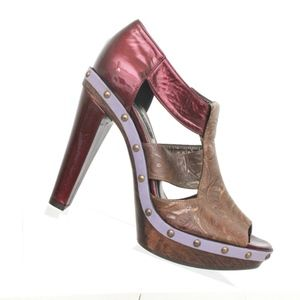 Nanette Lepore Open Toe Stud Platform Heel